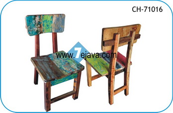 BOAT WOOD CHAIR 12